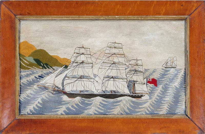 British Sailors Woolwork Woolie on Unusual Sea