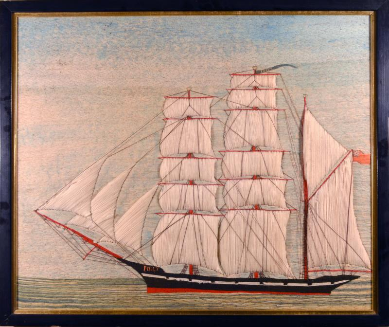 British Sailors Woolwork of the Barque Named Polly