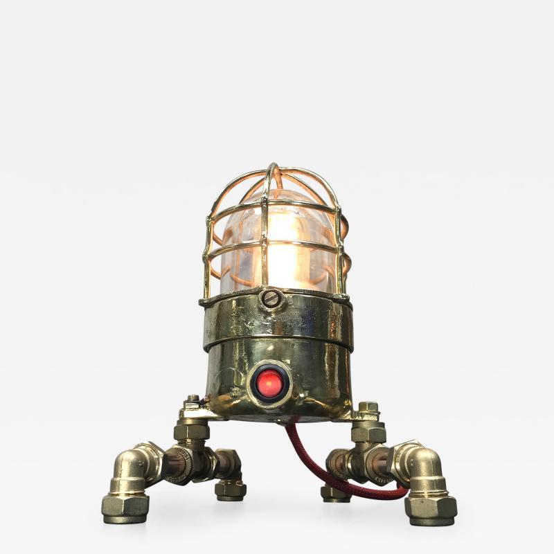 Bronze Brass Glass Copper Edison Steampunk Industrial Table Lamp
