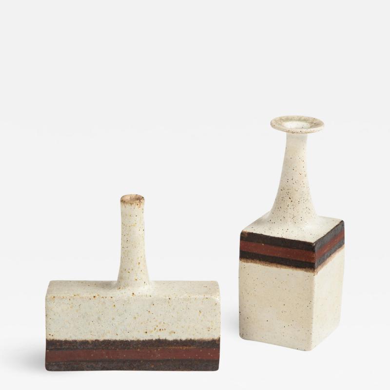 Bruno Gambone 2pc Petite Vases by Bruno Gambone