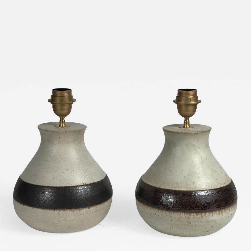 Bruno Gambone Pair of Ceramic Lamps by Bruno Gambone