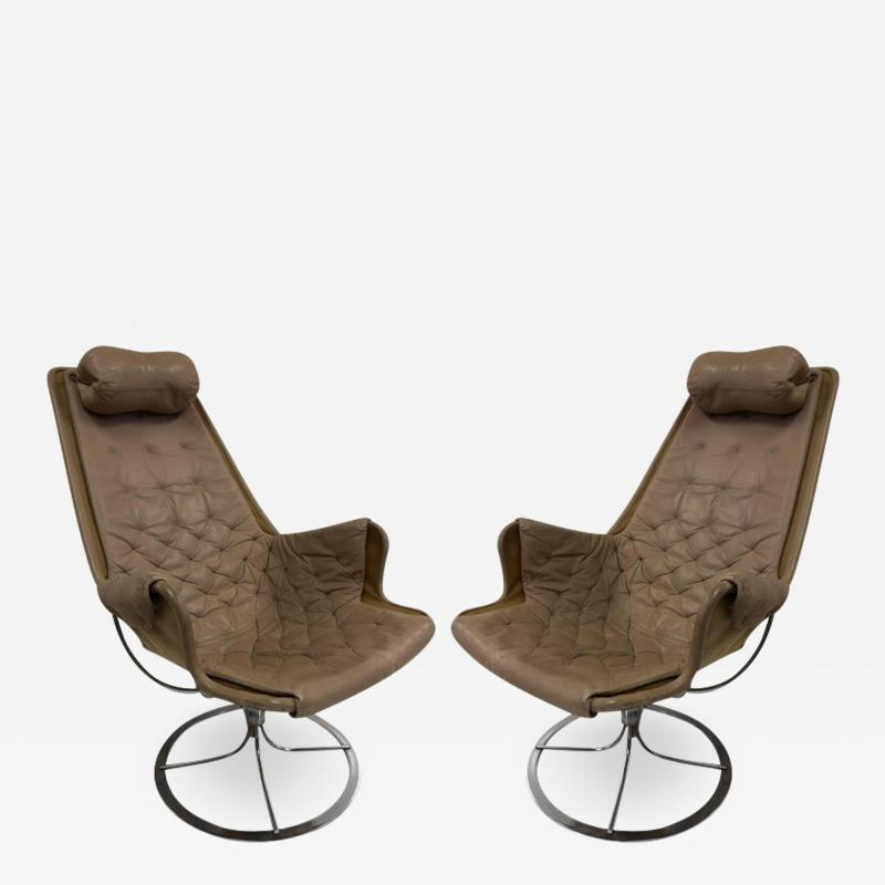 Bruno Mathsson Pair of Bruno Mathsson Jetson Lounge Chairs for DUX