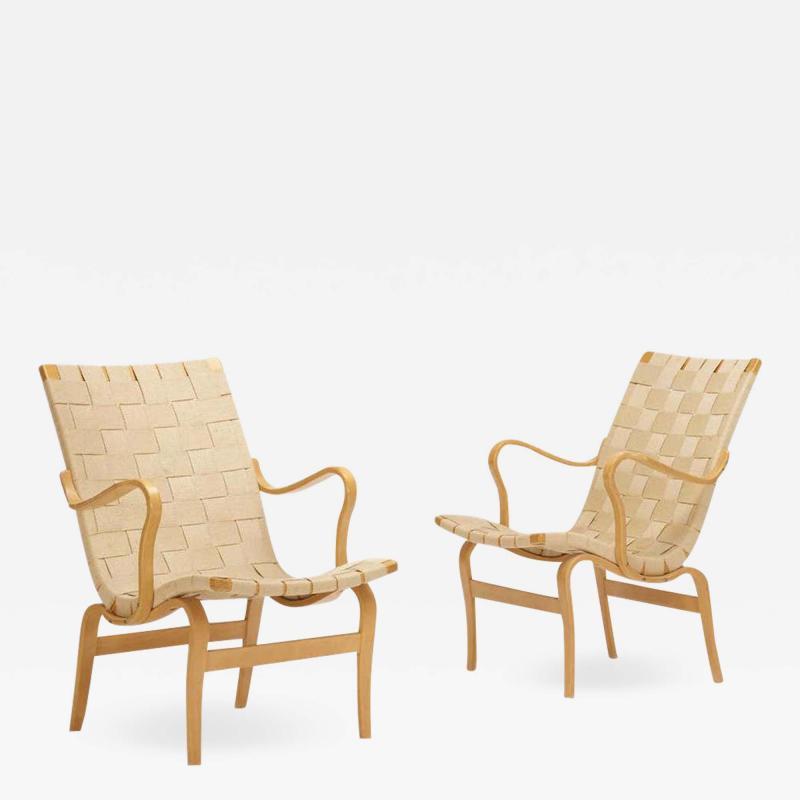 Bruno Mathsson Pair of Eva Chairs by Bruno Mathsson