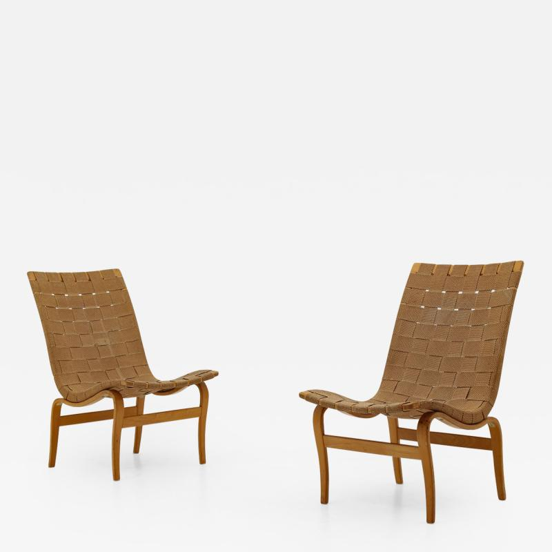 Bruno Mathsson Scandinavian Easy Chairs Eva by Bruno Mathsson 1940s
