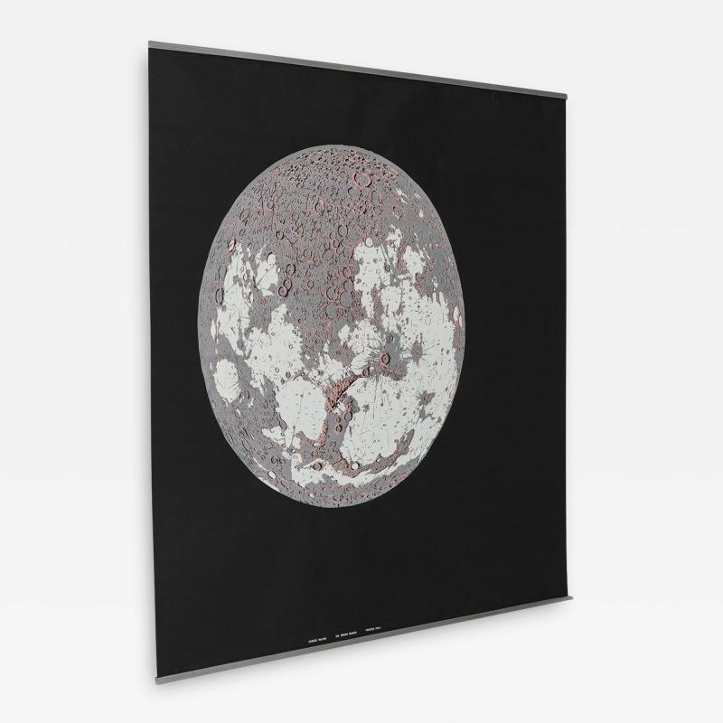 Bruno Munari Rare Map of The Moon Screenprint by Bruno Munari for Danese