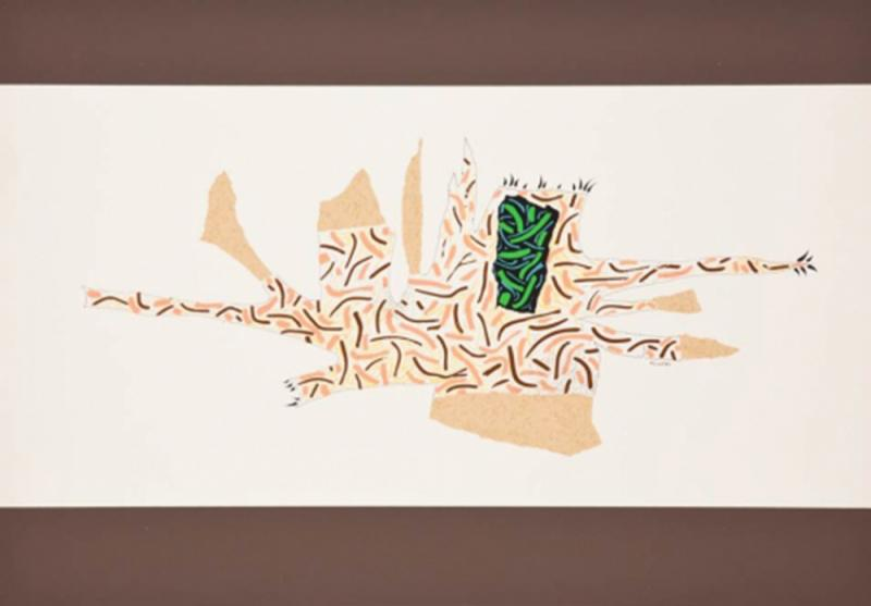 Bruno Munari Ricostruzione teorica di un oggetto immaginario Silkscreen Print for Danese