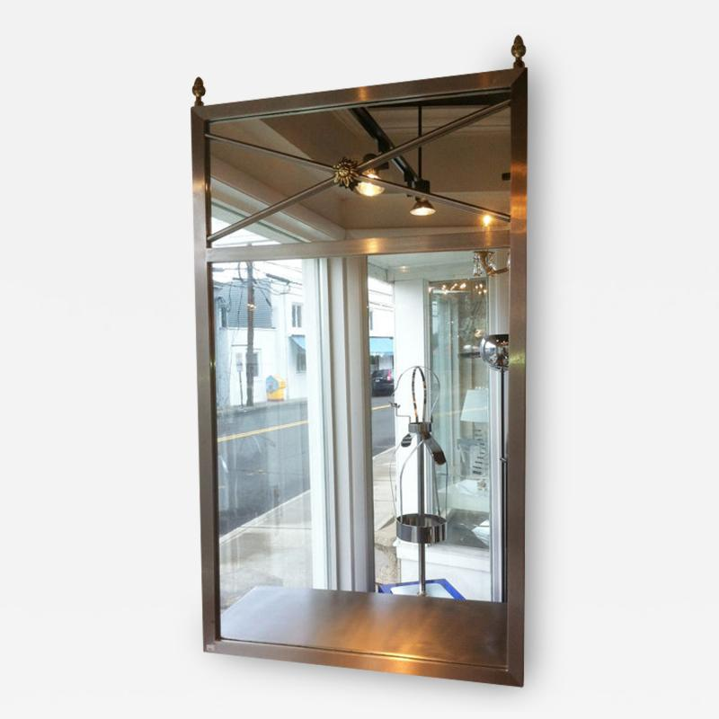 Brushed Steel Mirror