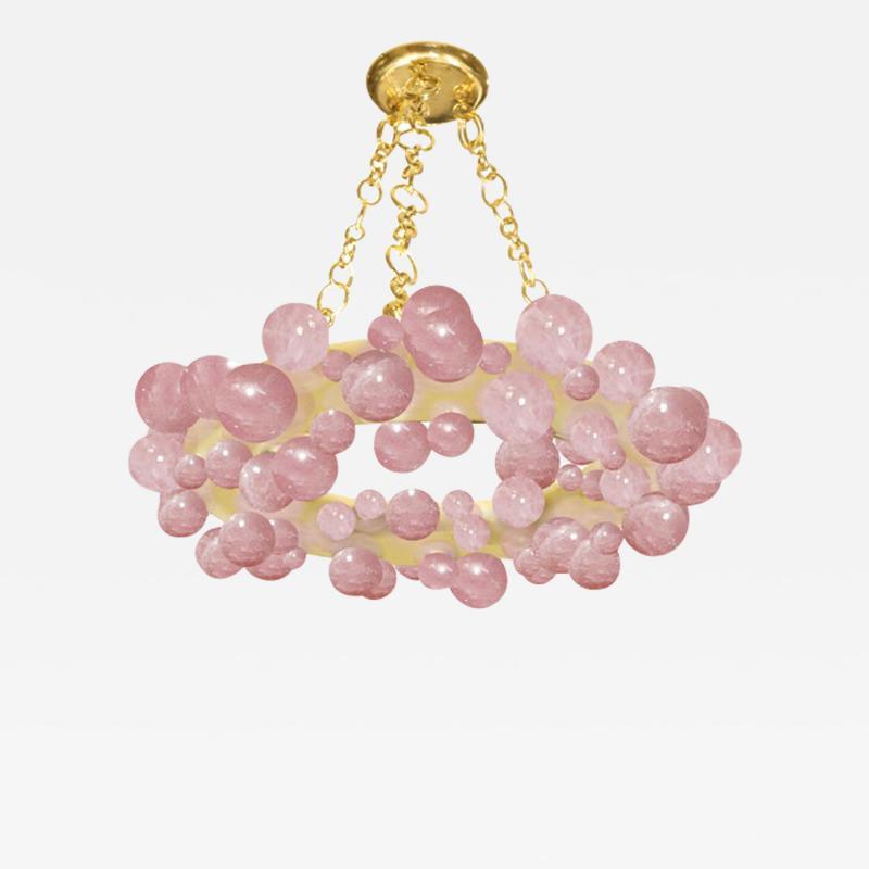 Bubble Ring Rock Crystal Chandelier by Phoenix