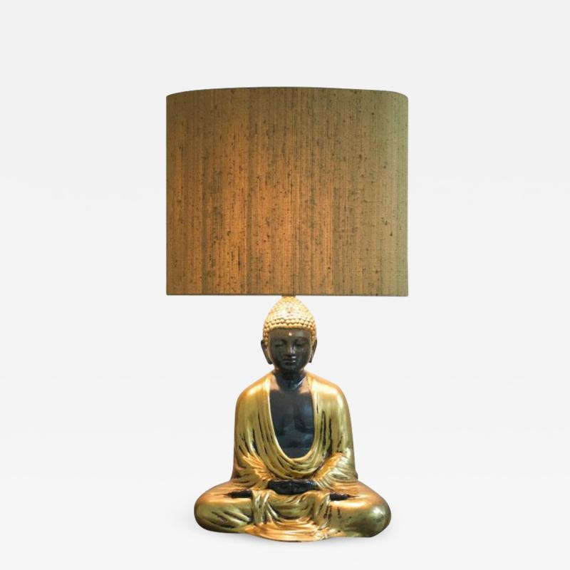 Buddha Ceramic Table Lamp from Italy 1970s