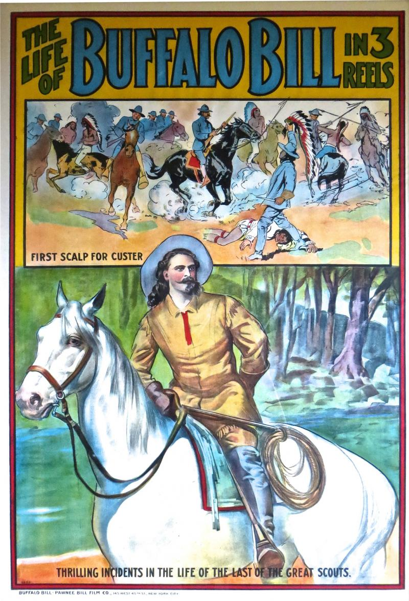 Buffalo Bill Movie Poster American Circa 1910