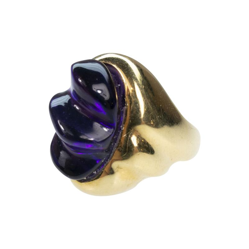 Burle Marx Style 18 Karat Amethyst Ring Secrett circa 1970