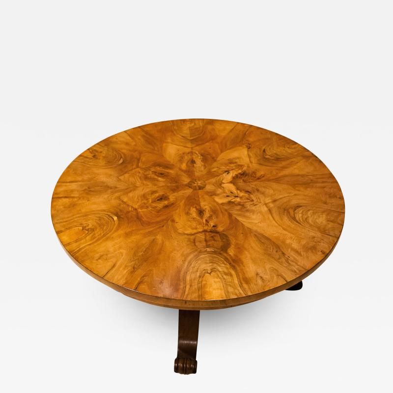 Burled Walnut Coffee Table Made From Center Table Circa 1825 Northern Europe