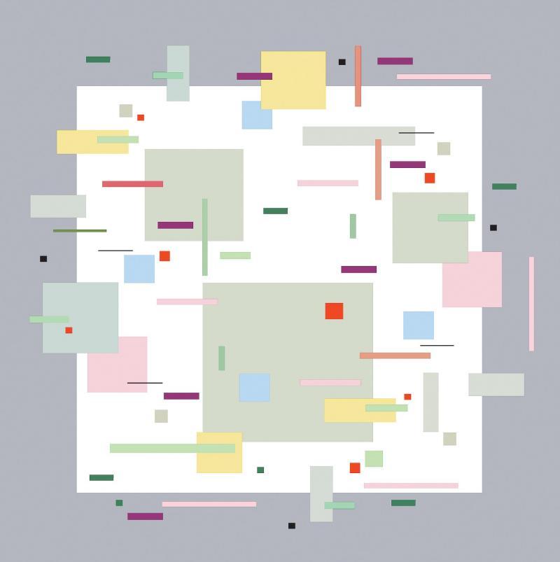 Burton Kramer All That Jazz 2 lyrical geometric abstraction by Burton Kramer
