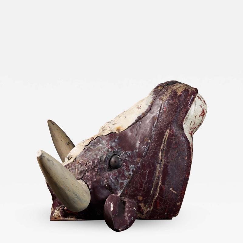 Butchers Exterior Shop Sign of a Steer Head