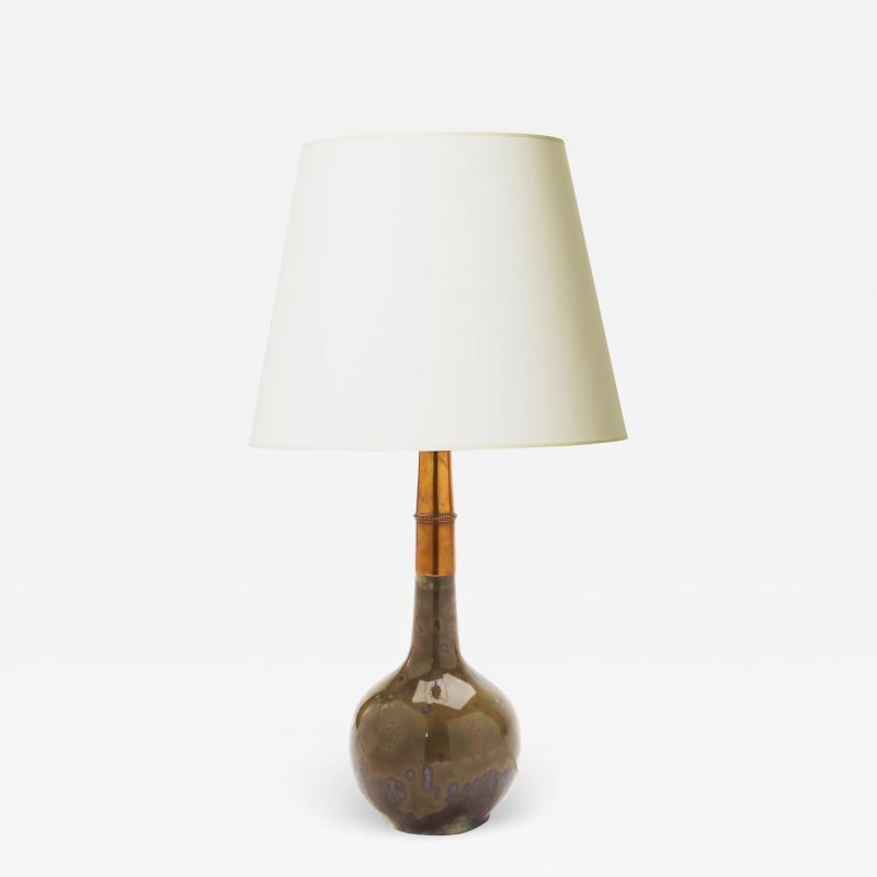 C F Ludvigsen Exquisite Table Lamp by C E Ludwigsen for Royal Copenhagen
