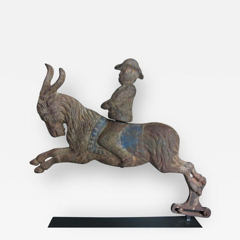 C W Parker Arcade Shooting Gallery Target Man Riding Goat by C W Parker