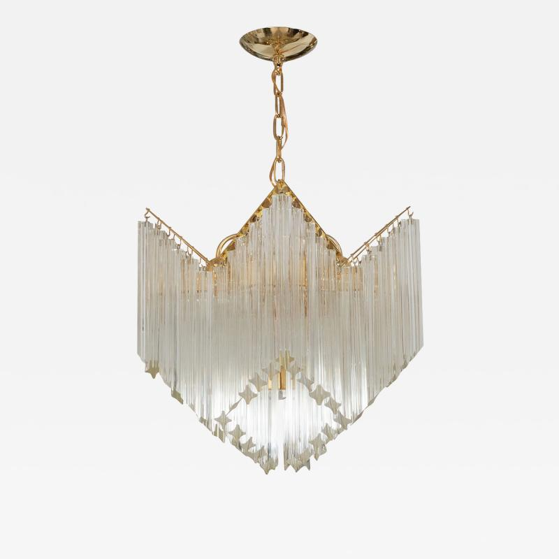 CASCADING GLASS PRISM CHANDELIER