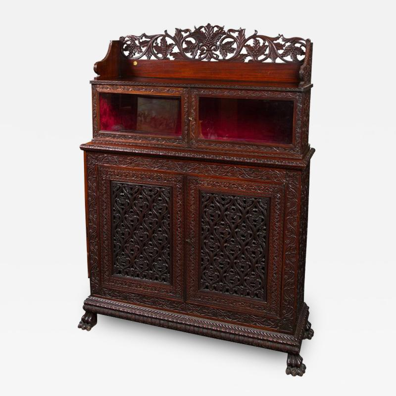 CH 24 Fine William IV Period Anglo Indian Rosewood Cabinet