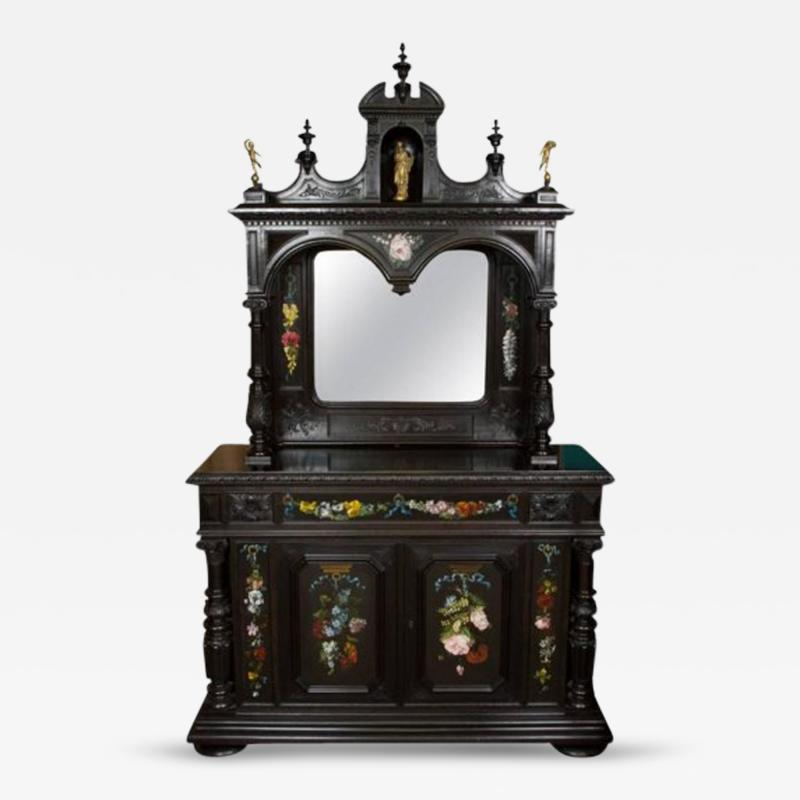CH 26 Fine Renaissance Style Ebonized Cabinet