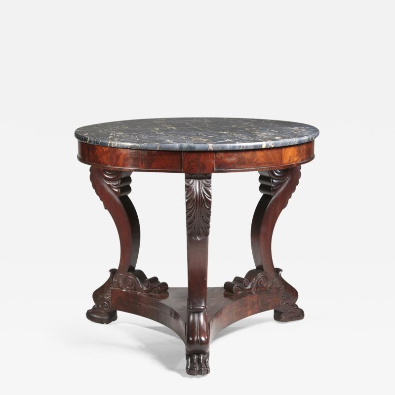CLASSICAL CARVED MAHOGANY GU RIDON