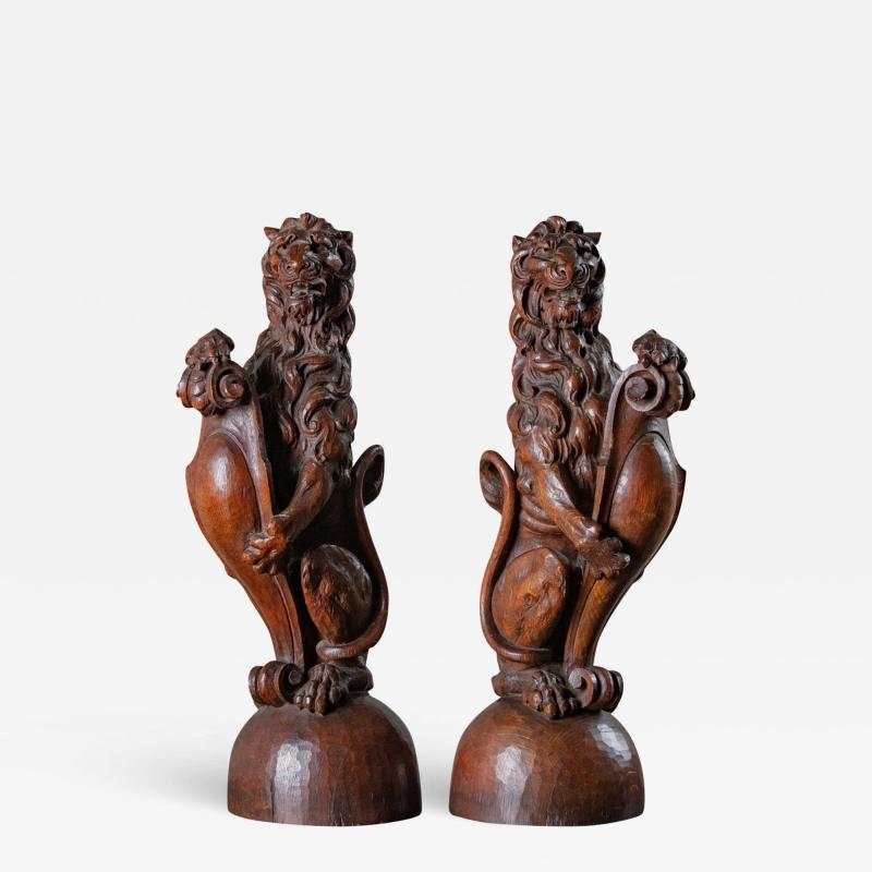 CONTINENTAL CARVED LIONS