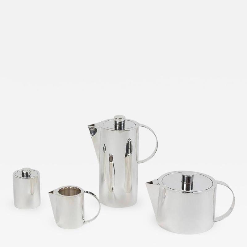 Calvin Klein Elegant Sterling Silver Four Piece Coffee Set by Calvin Klein for Swid Powell