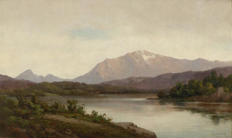 Carl Adolf Rudolf Julius Von Perbandt A River Landscape