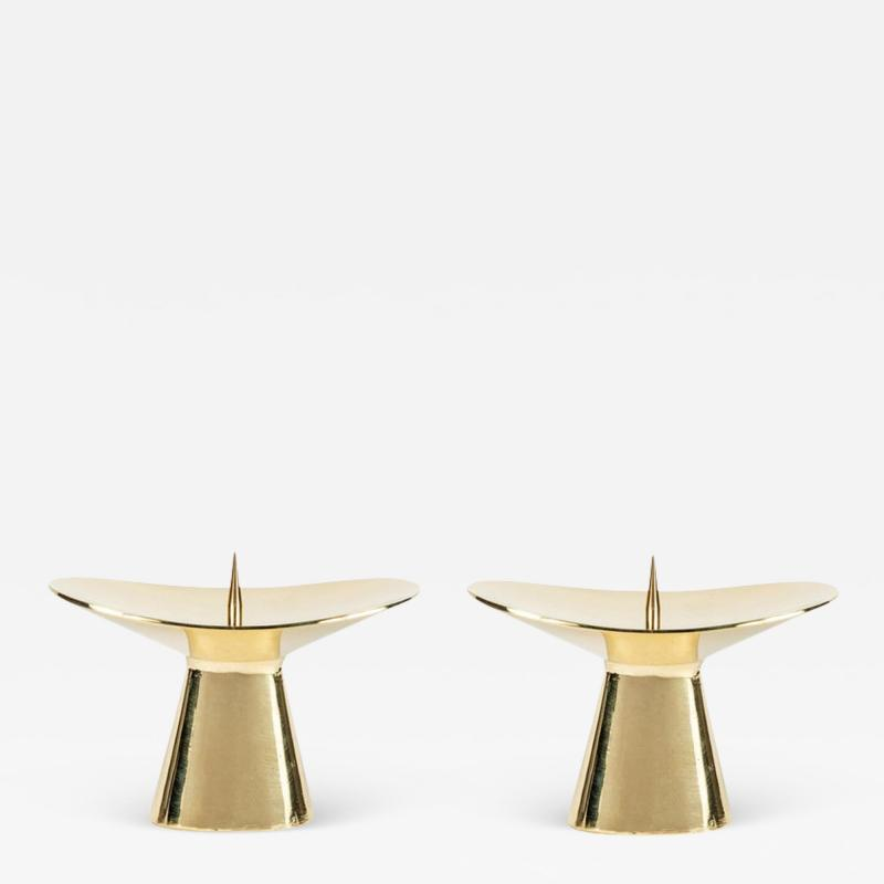 Carl Aub ck Carl Aub ck Model 3469 Polished Brass Candleholder