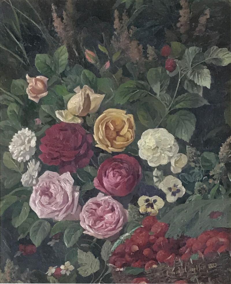 Carl Carlson 1853 1917 Danish Floral Still Life