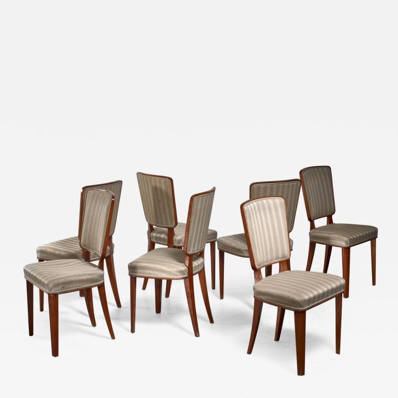 Carl Cederholm Carl Cederholm set of seven dining chairs Sweden