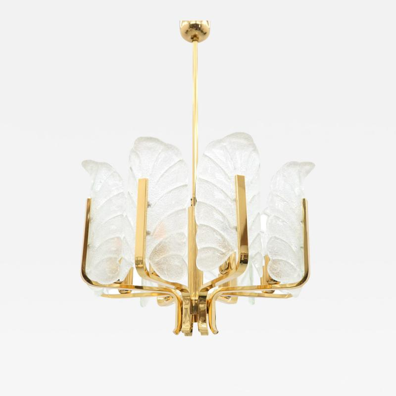 Carl Fagerlund Brass and Murano Glass Chandelier 1960s