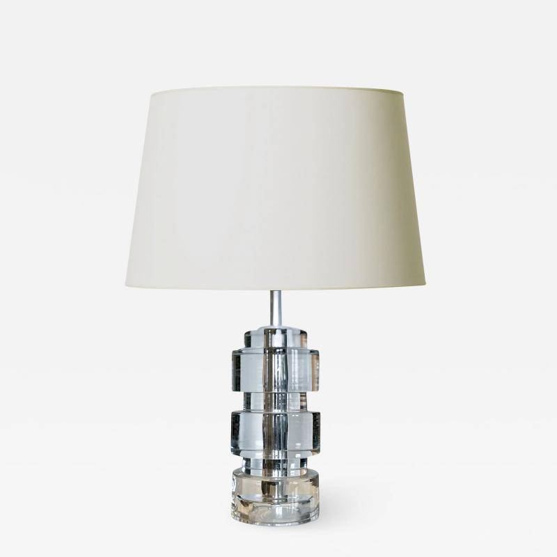 Carl Fagerlund Crystal Table Lamp by Carl Fagerlund for Orrefors