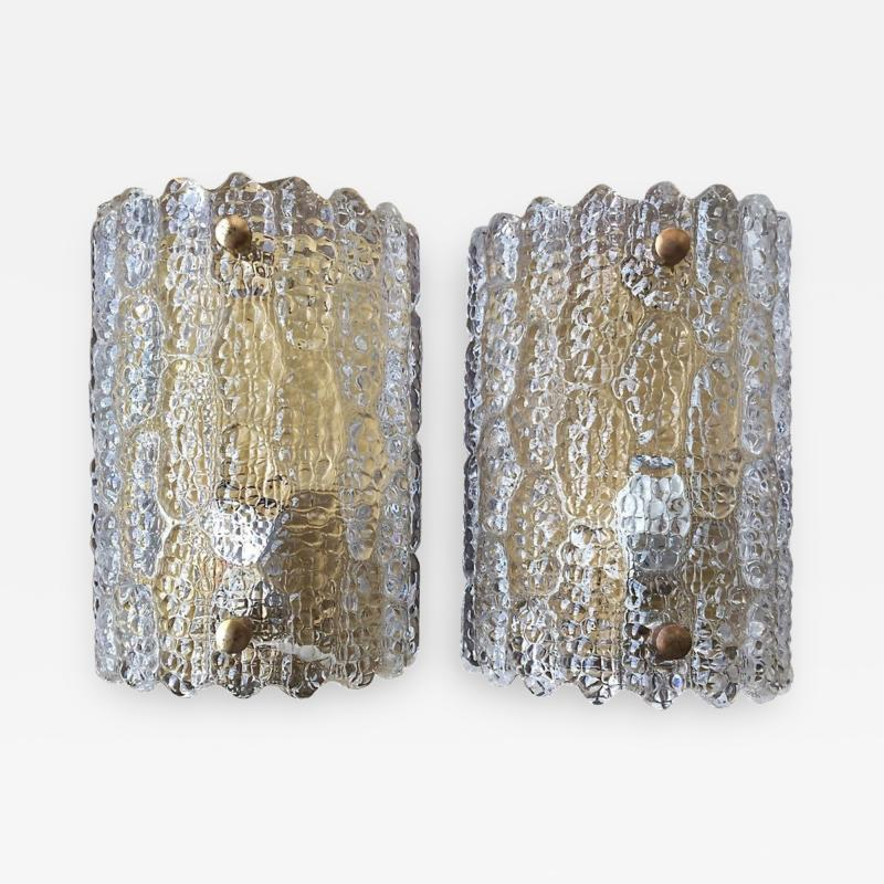 Carl Fagerlund Large Sconces by Orrefors
