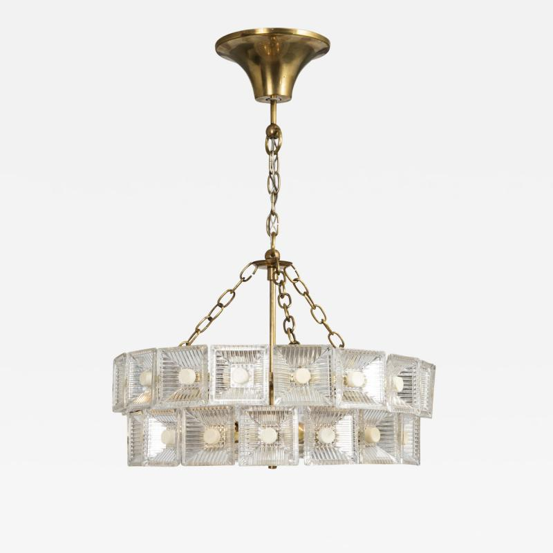 Carl Fagerlund Mid Century Pendant Light By Carl Fagerlund For Orrefors Sweden Circa 1960s