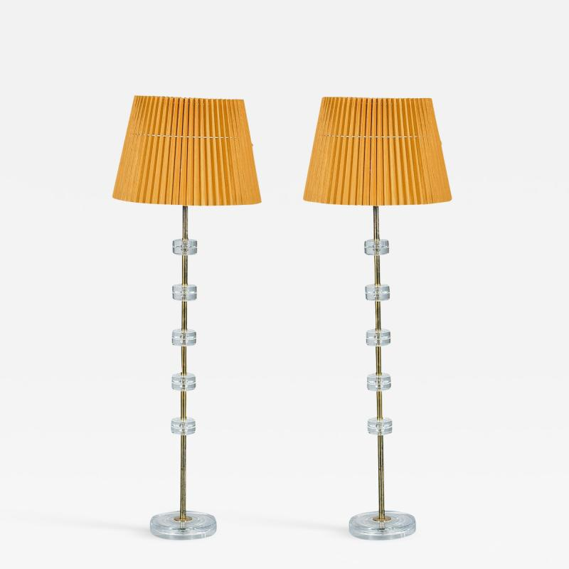 Carl Fagerlund Pair of Floor Lamps by Carl Fagerlund for Orrefors