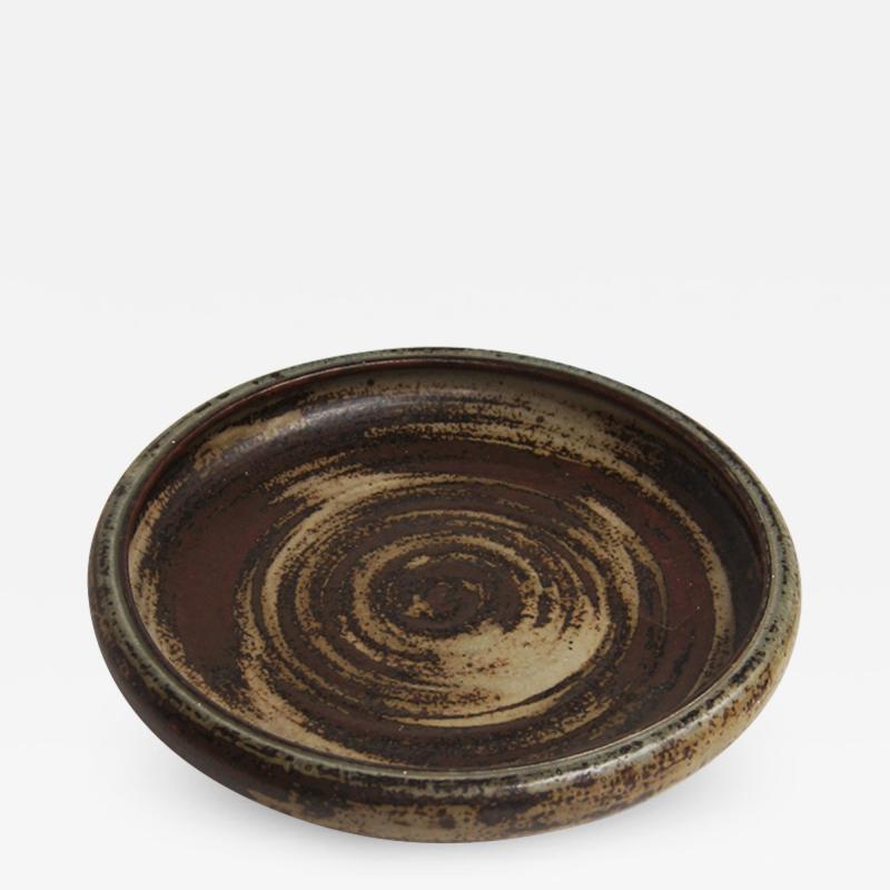 Carl Halier Sung glazed dish by Carl Halier