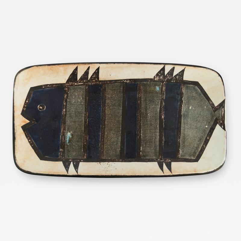 Carl Harry St lhane CARL HARRY STALHANE ANNE LAUKKANEN FISH PLATE RORSTRAND Sweden