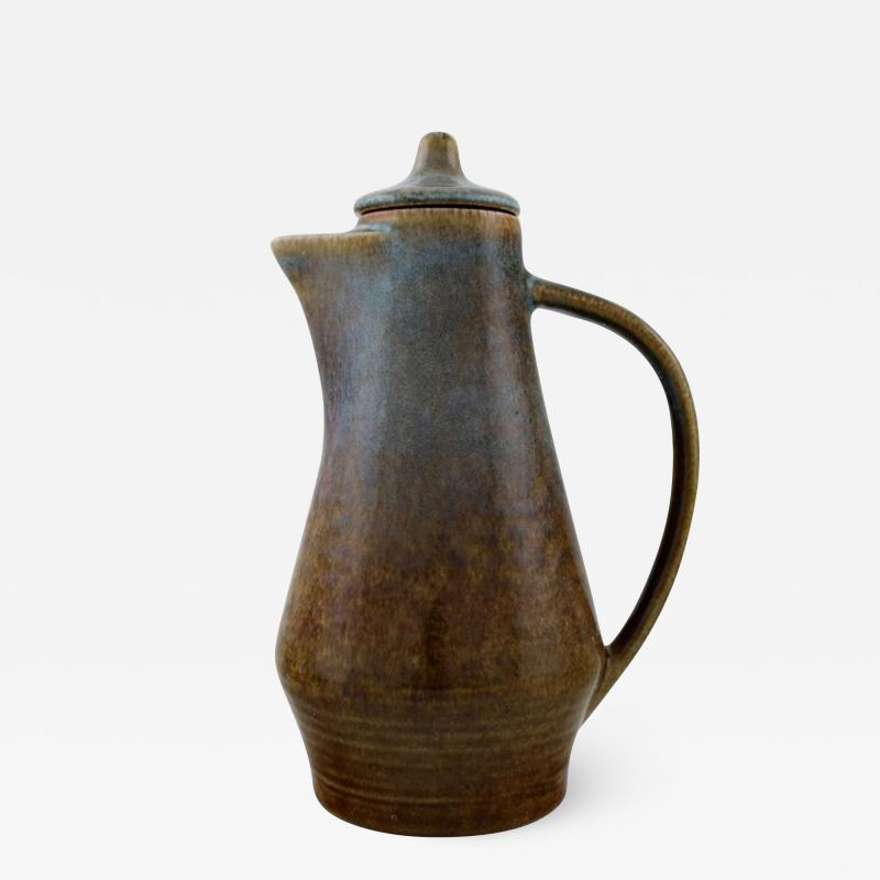 Carl Harry St lhane Jug with lid in glazed stoneware