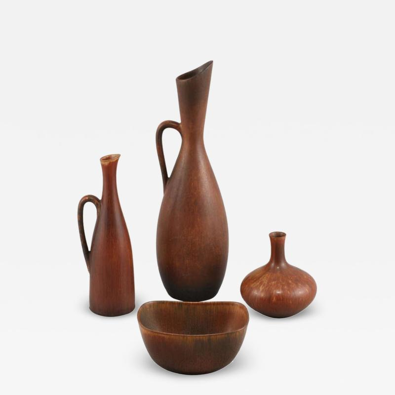 Carl Harry St lhane Set of Stoneware by Carl Harry Stalhane