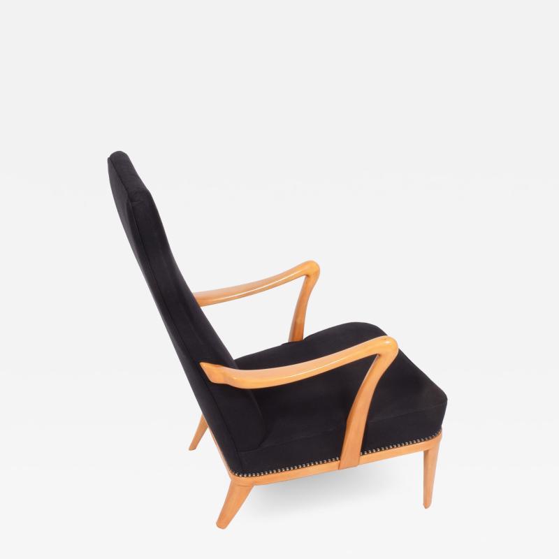 Carl Malmsten 1940s Easy Chair Attributed to Carl Malmsten