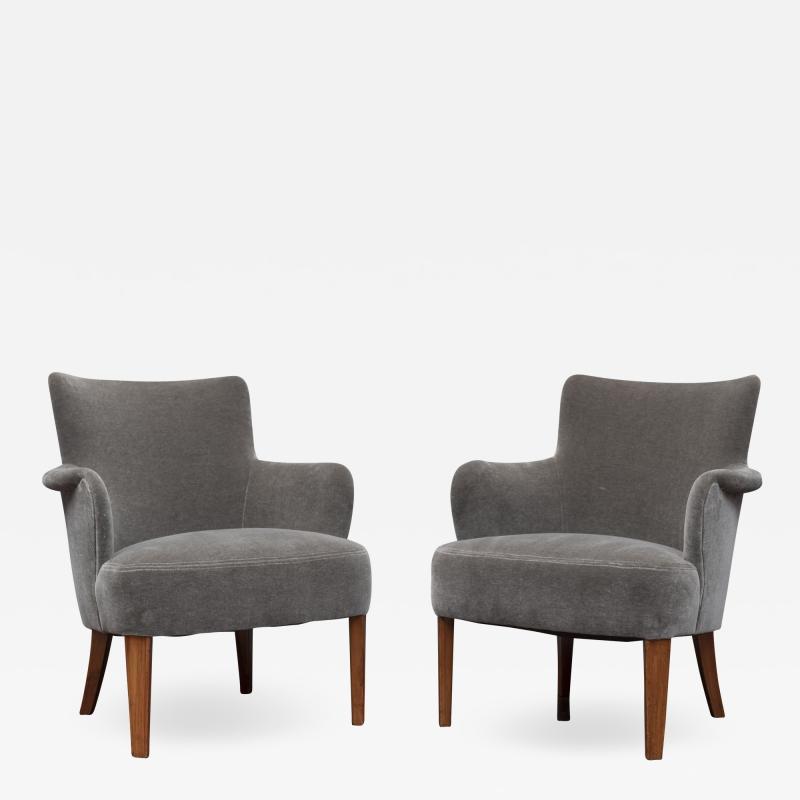 Carl Malmsten Mid Century Modern Lounge Chairs Swedish