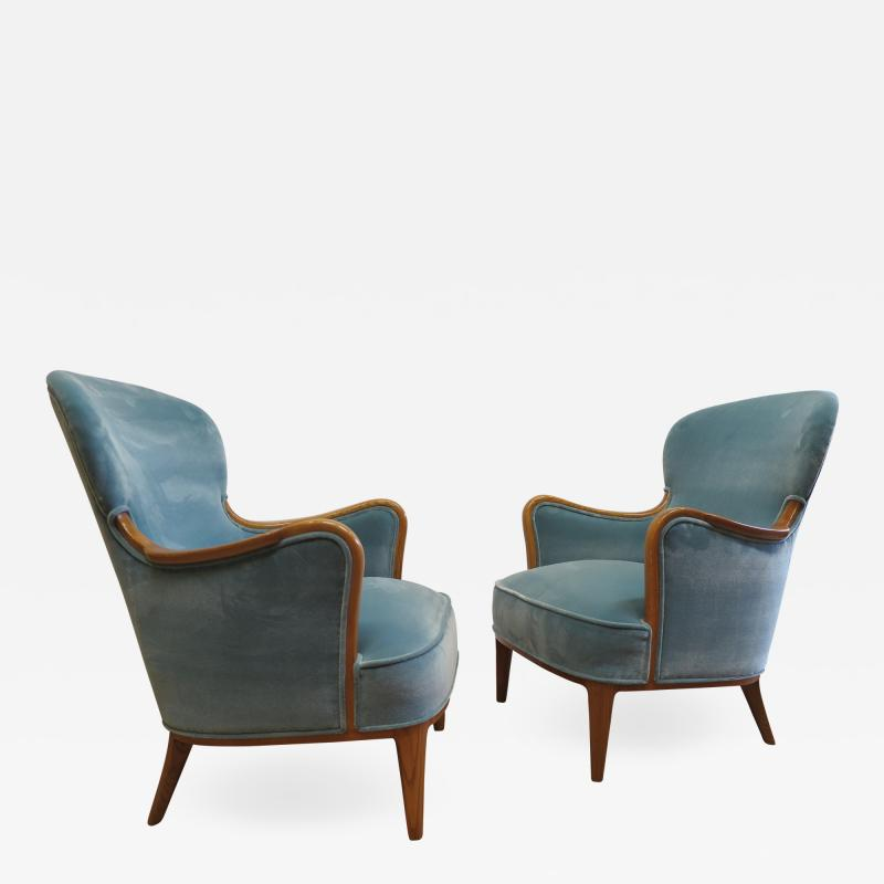 Carl Malmsten Pair of Carl Malmsten Lounge chairs