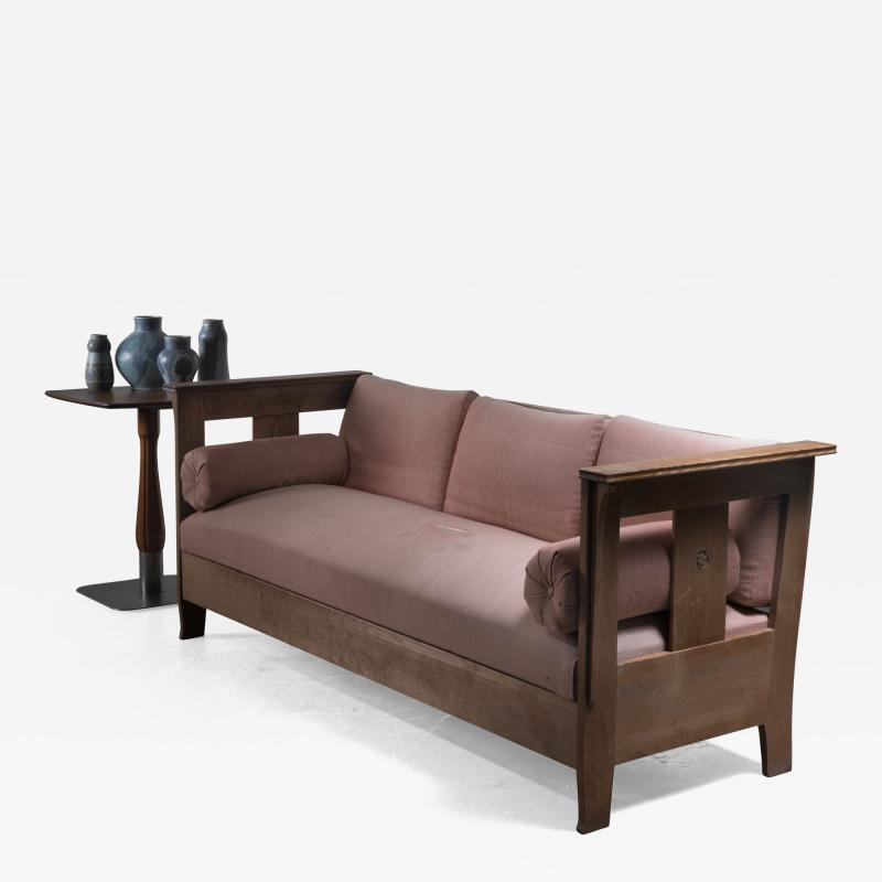 Carl Westman Carl Westman pine Art Nouveau sofa