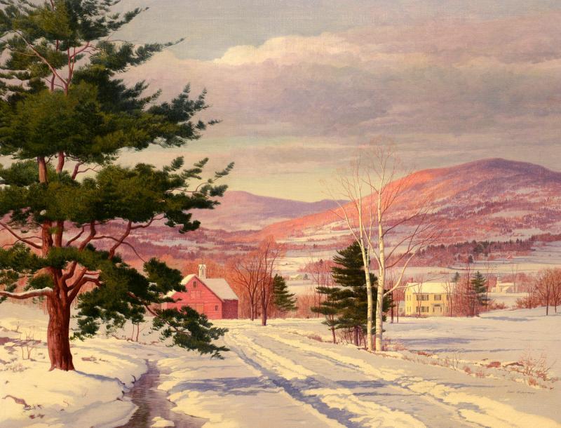 Carl Wuermer Afternoon Light Winter Village