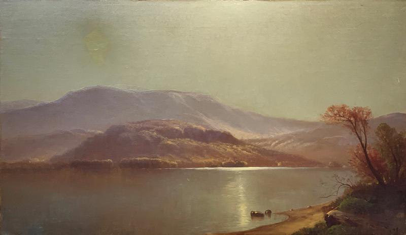 Carleton Wiggins Luminist Landscape Oil Painting signed by Carleton Wiggins