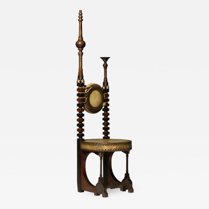 Carlo Bugatti Rare Mosque chair by Carlo Bugatti