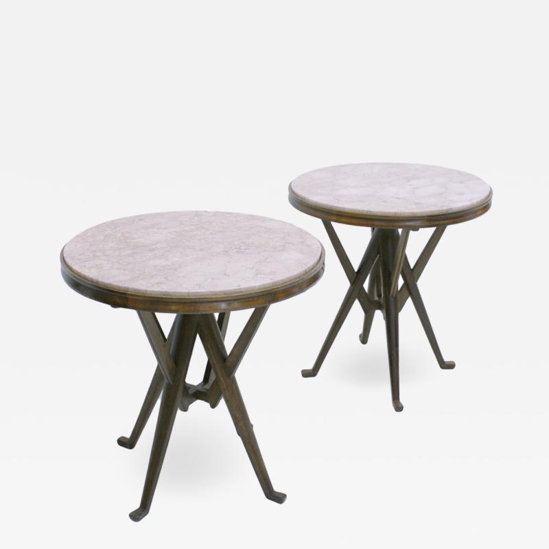 Carlo Mollino Pair Of Attribuited Carlo Mollino Ashwood Italian Side Tables