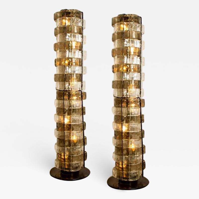 Carlo Nason 1 of the 2 Floor Lamps by Carlo Nason Italy circa 1969