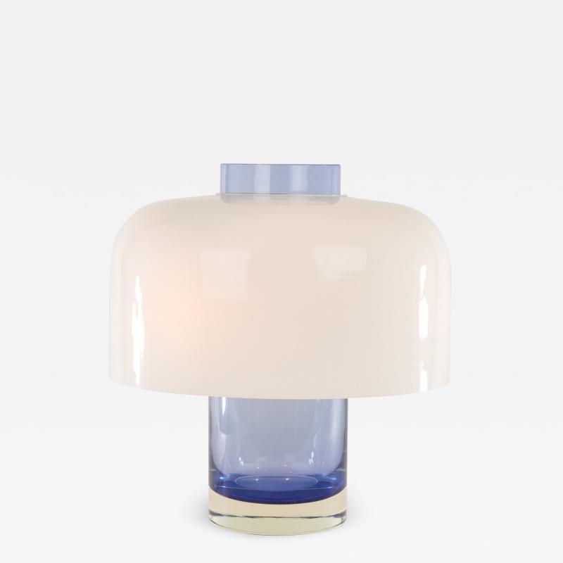 Carlo Nason Blue Murano glass table lamp LT 226 by Carlo Nason for A V Mazzega 1960s