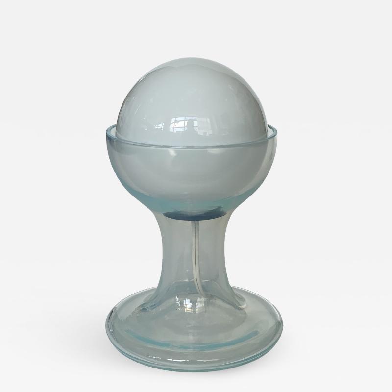 Carlo Nason Carlo Nason Opalescent Murano Glass Petite Table Lamp for Mazzega